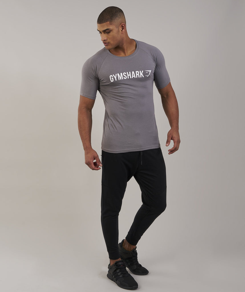 Gymshark Apollo T-Shirt - Slate/White 1