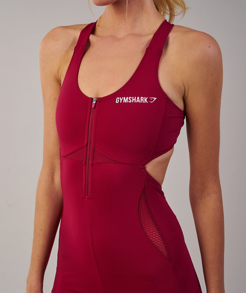 Gymshark Sports One Piece 7/8 - Beet 2