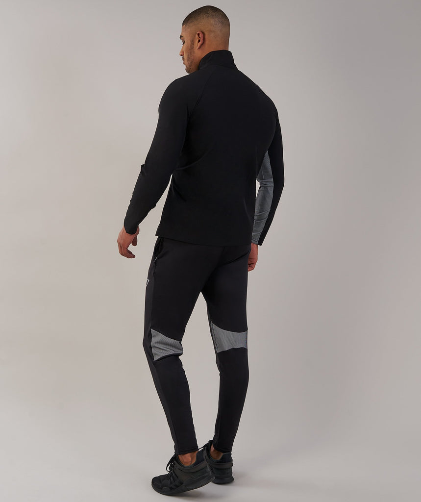 Gymshark Gravity Track Top - Black/White 2