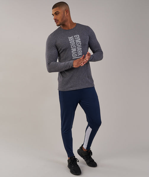 Gymshark Statement Long Sleeve T-Shirt - Charcoal Marl 3