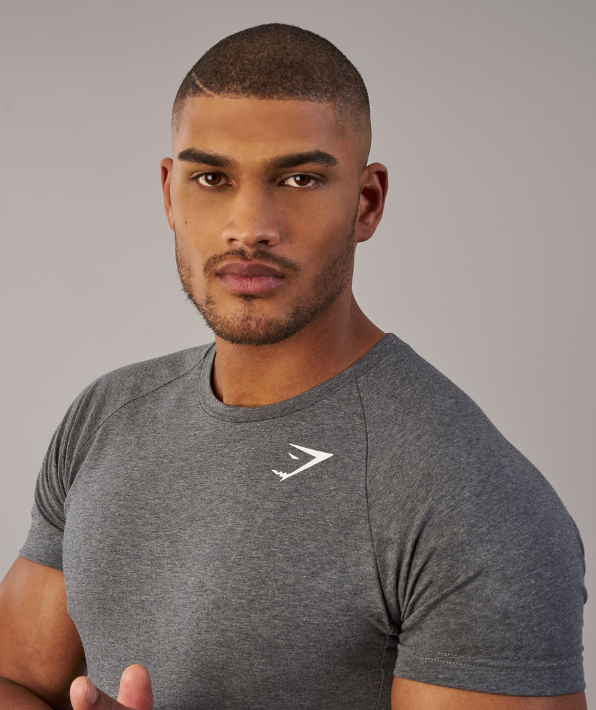 Gymshark Form T-Shirt - Charcoal Marl 5
