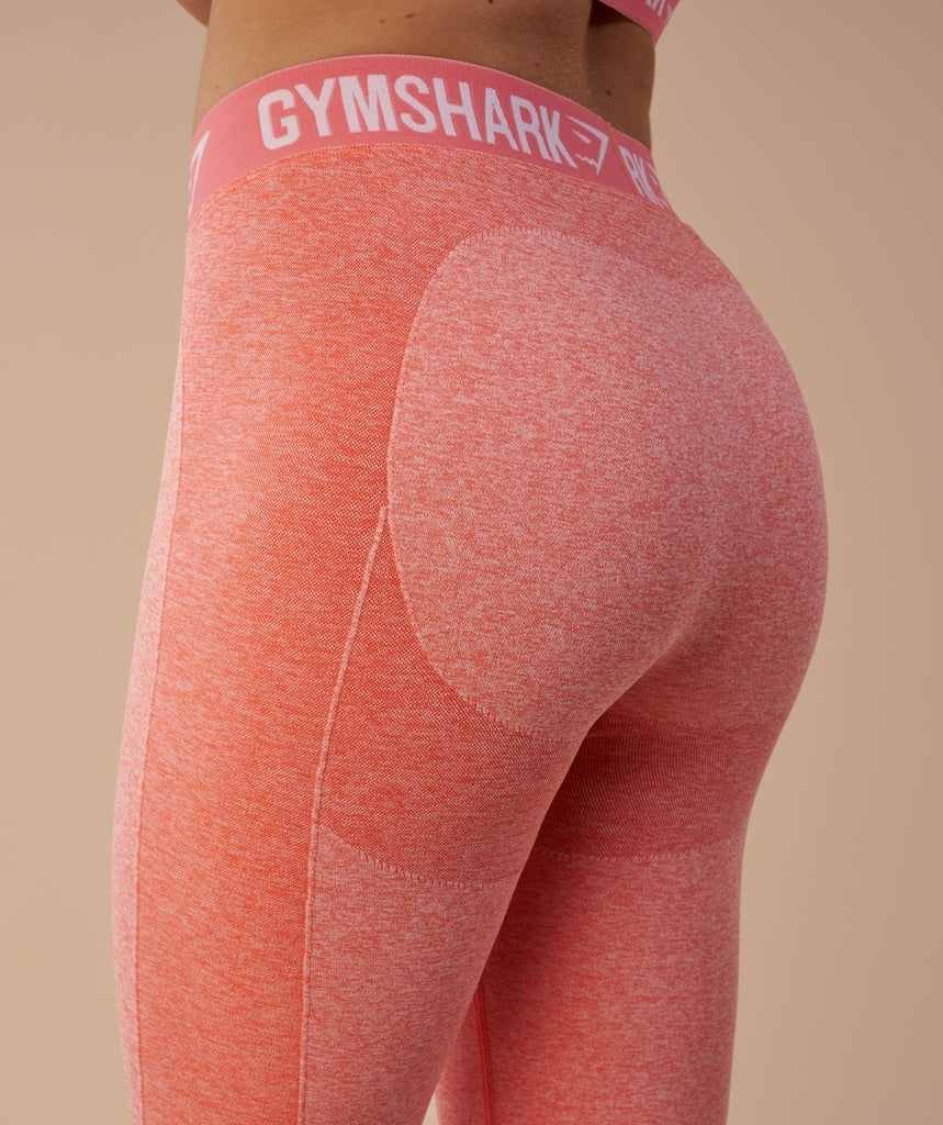 Gymshark Flex Cropped Leggings - Peach Coral 6
