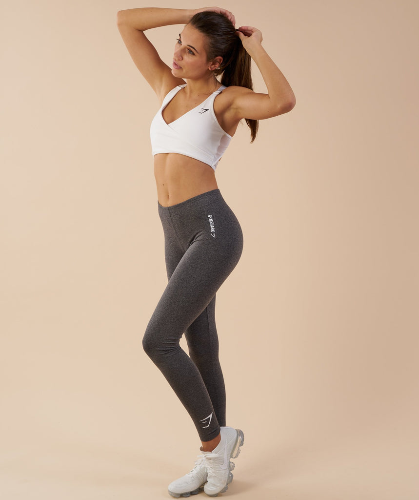 Gymshark Ark Jersey Leggings - Charcoal Marl 5