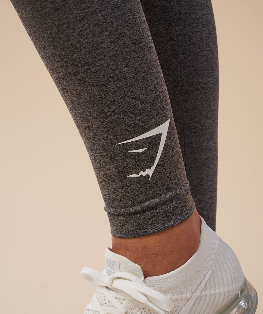 Gymshark Ark Jersey Leggings - Charcoal Marl 6