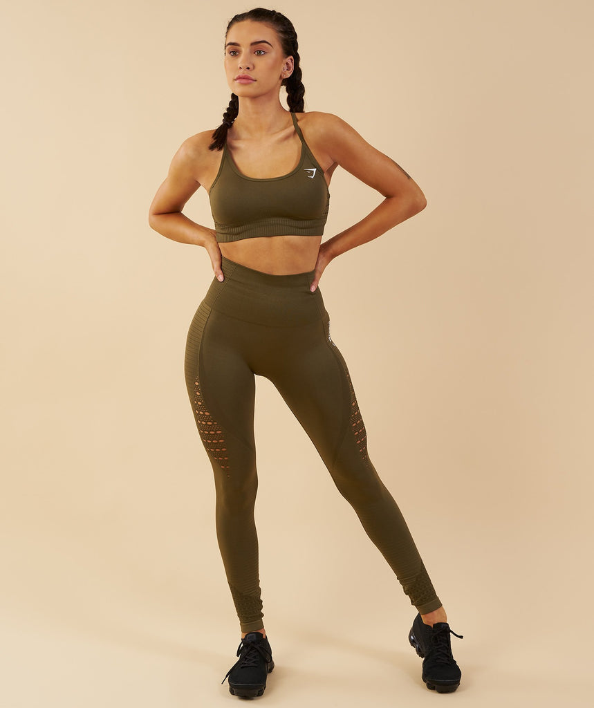 Gymshark Energy Seamless Sports Bra - Khaki 1