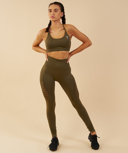 Gymshark Energy Seamless Sports Bra - Khaki 4