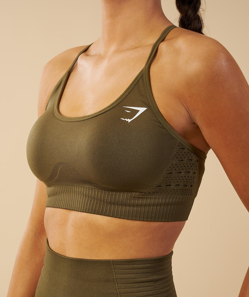Gymshark Energy Seamless Sports Bra - Khaki 2