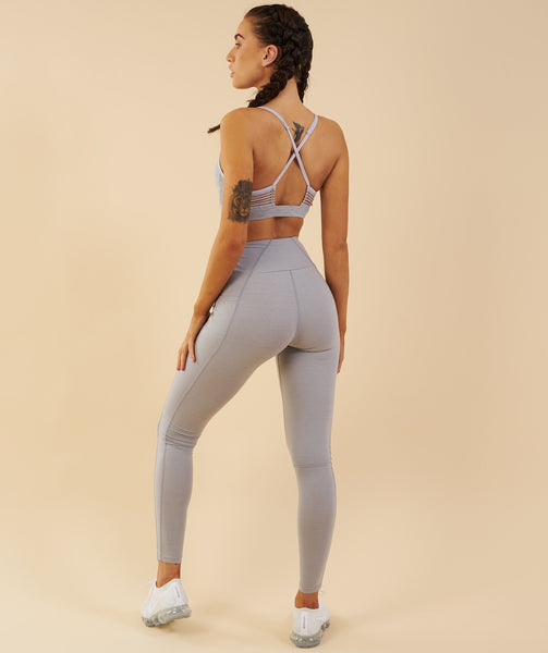 Gymshark Aspire Leggings - Light Grey Marl 3