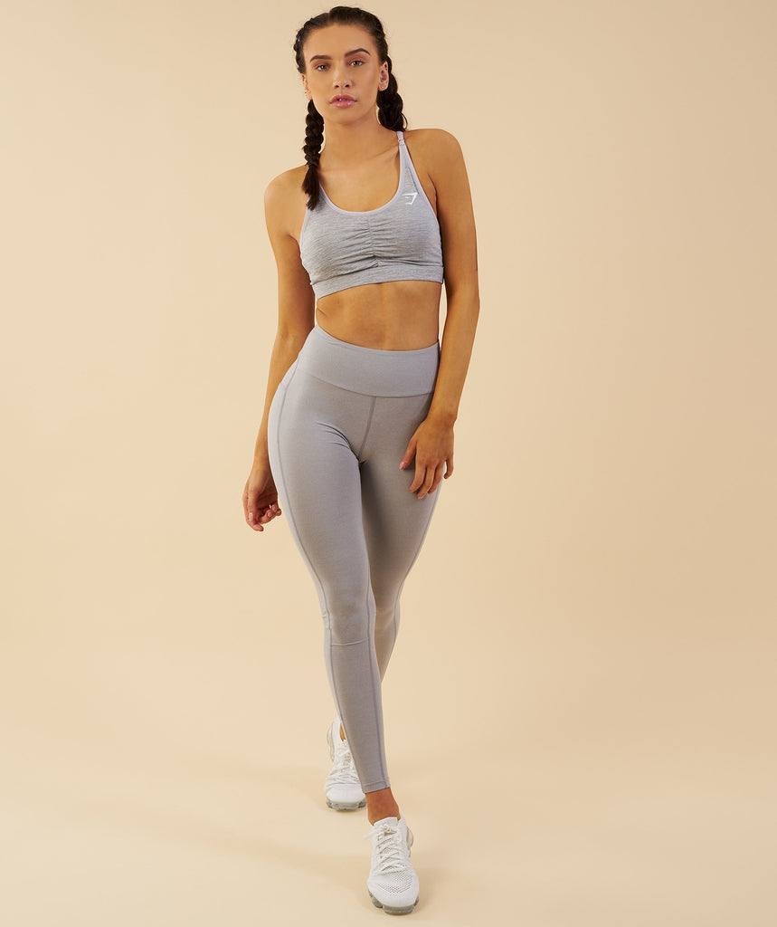 Gymshark Aspire Leggings - Light Grey Marl 5