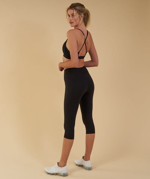Gymshark Dreamy Cropped Leggings  - Black 2