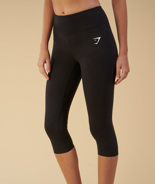 Gymshark Dreamy Cropped Leggings  - Black 1