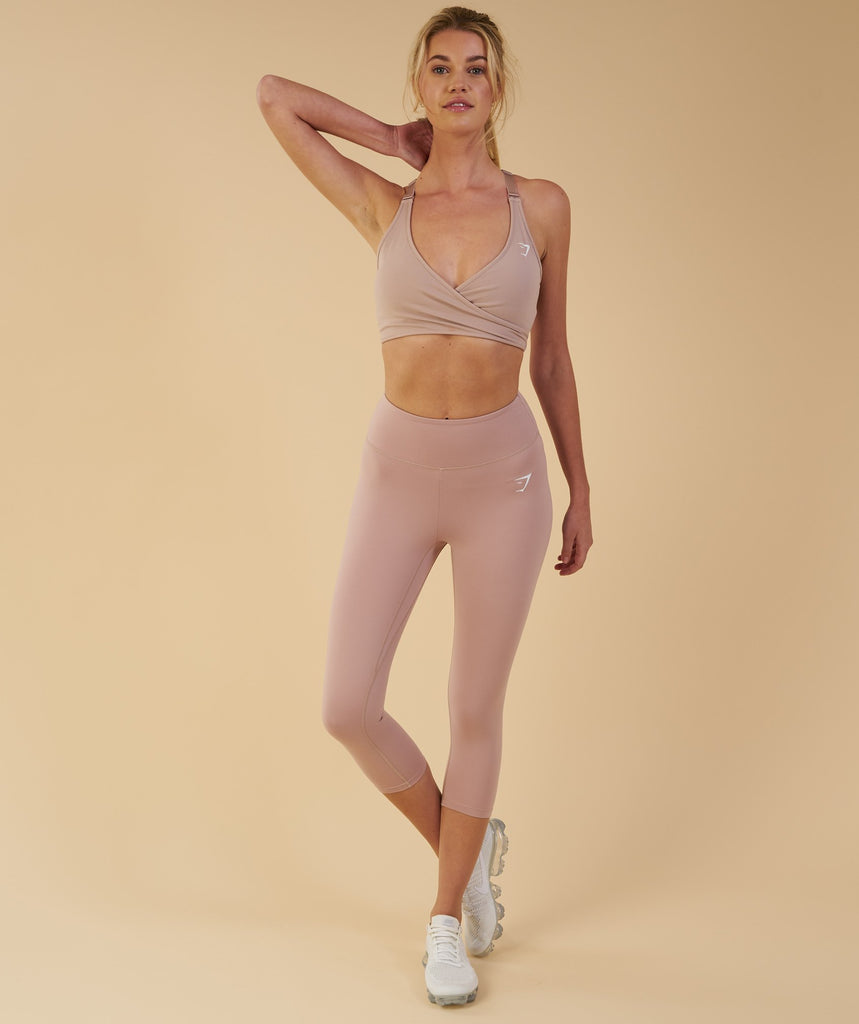 Gymshark Dreamy Cropped Leggings - Taupe 6