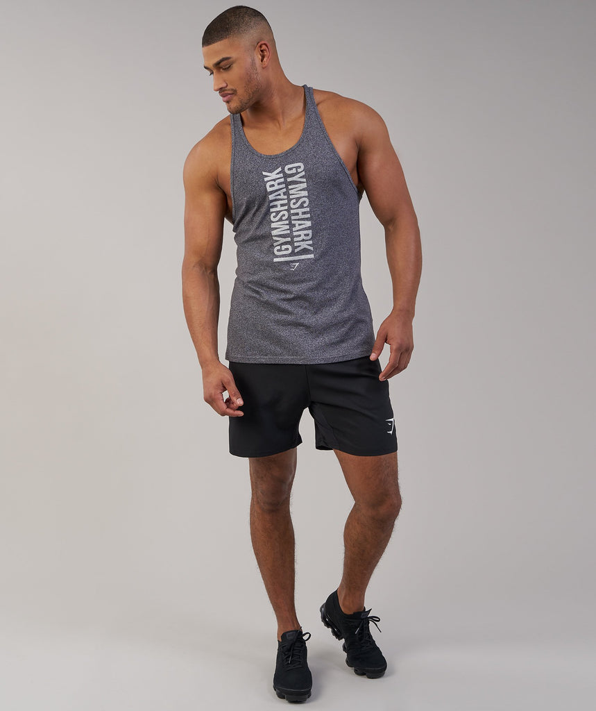 Gymshark Statement Stringer - Charcoal Marl 6