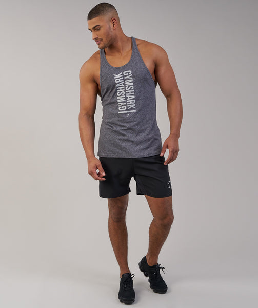 Gymshark Statement Stringer - Charcoal Marl 4