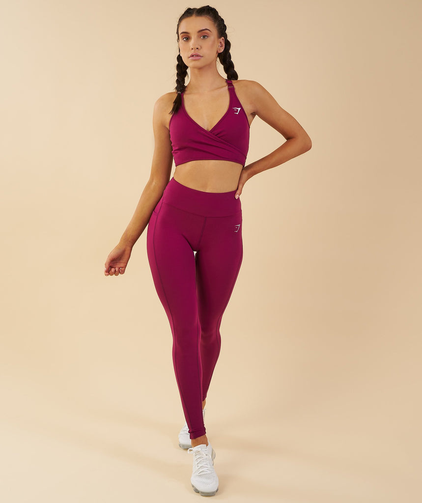 Gymshark Elite Sports Bra - Deep Plum 1