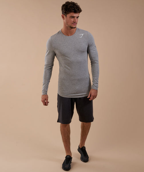 Gymshark Ark Long Sleeve T-Shirt - Light Grey Marl 4