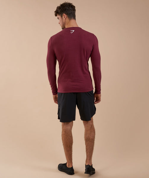 Gymshark Brushed Cotton Long Sleeve T-Shirt - Port 4