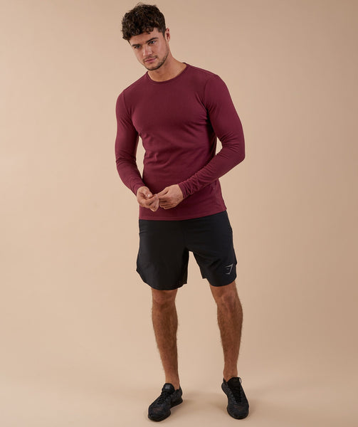 Gymshark Brushed Cotton Long Sleeve T-Shirt - Port 3