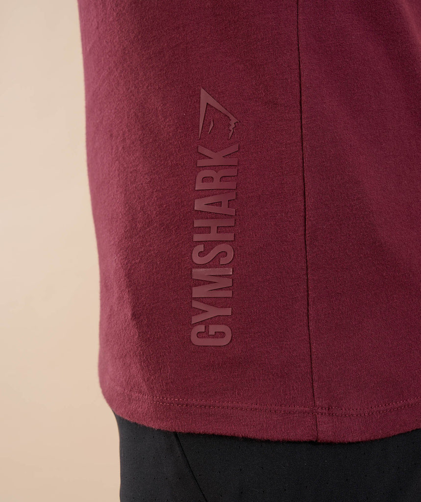 Gymshark Brushed Cotton Long Sleeve T-Shirt - Port 6