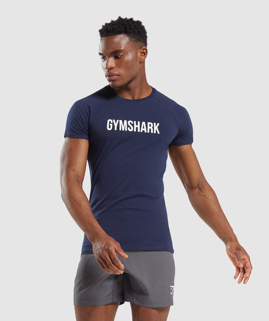 Gymshark Apollo T-Shirt - Dark Blue 1