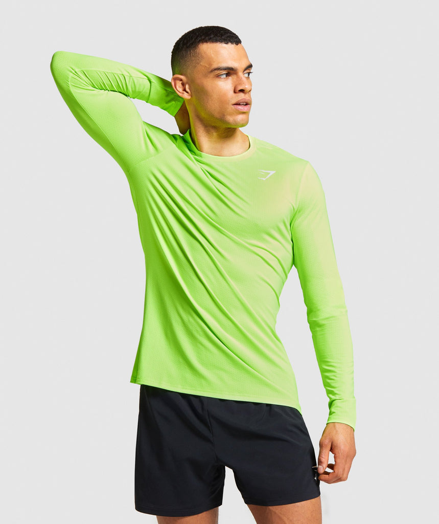 Gymshark Arrival Long Sleeve T-shirt - Lime 1