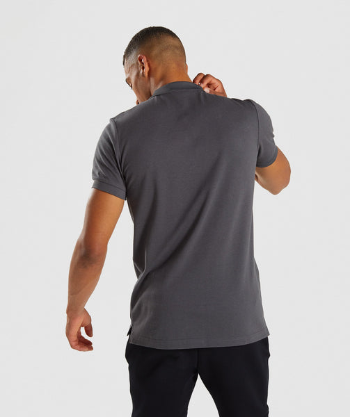 Gymshark Ace Polo - Charcoal 1