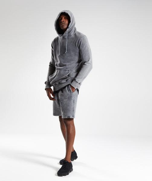 Gymshark Acid Wash Pullover - Light Grey 4