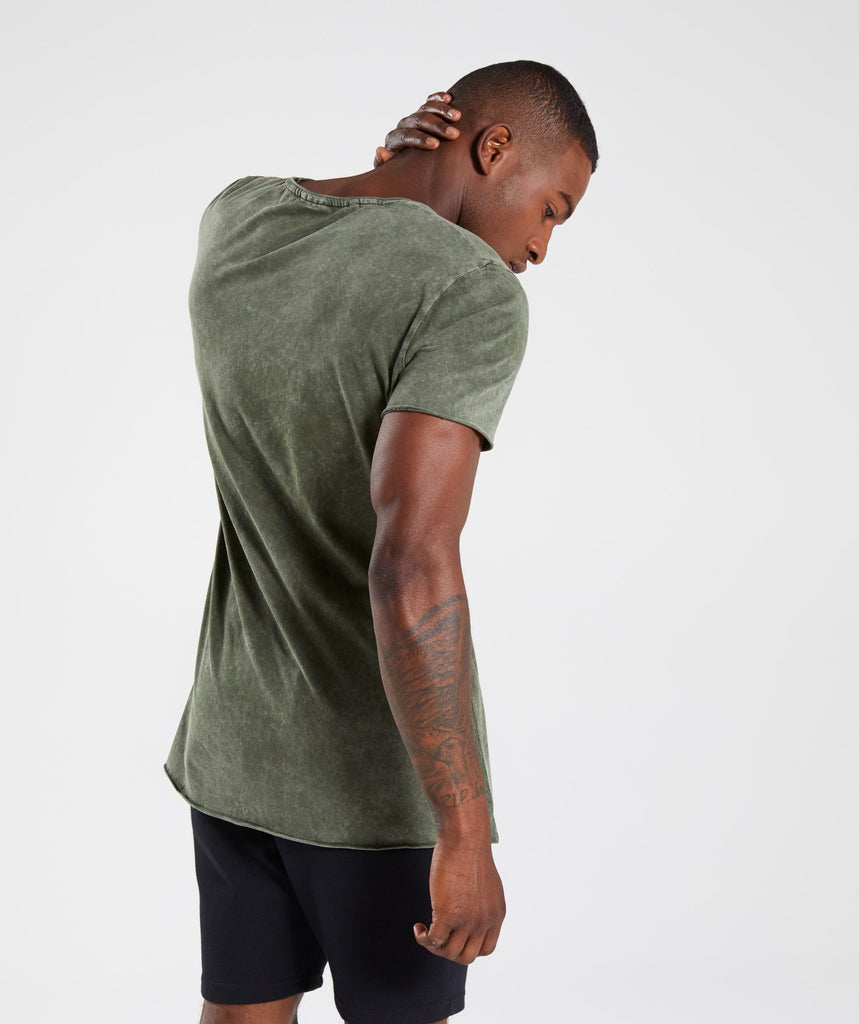 Gymshark Acid Wash T-Shirt - Alpine Green 2