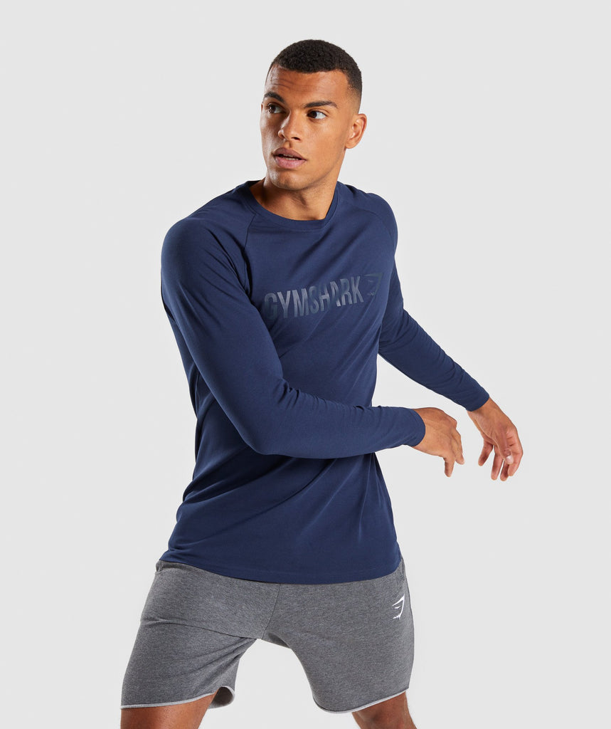 Gymshark Apollo Long Sleeve T-Shirt - Sapphire Blue 1