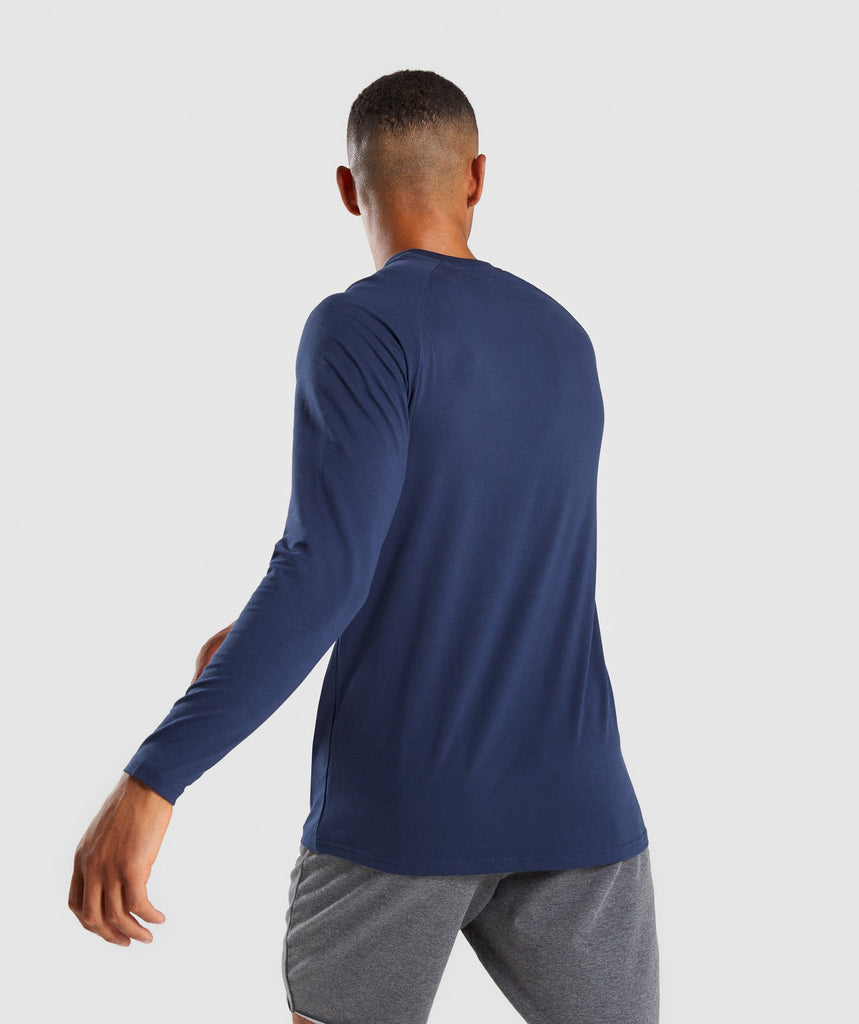 Gymshark Apollo Long Sleeve T-Shirt - Sapphire Blue 2