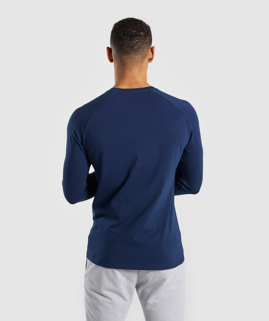 Gymshark Apollo Long Sleeve T-Shirt - Blue 2
