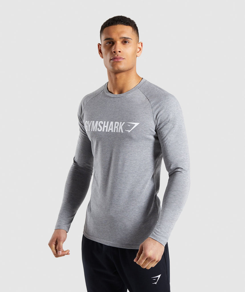 Gymshark Apollo Long Sleeve T-Shirt - Grey 1