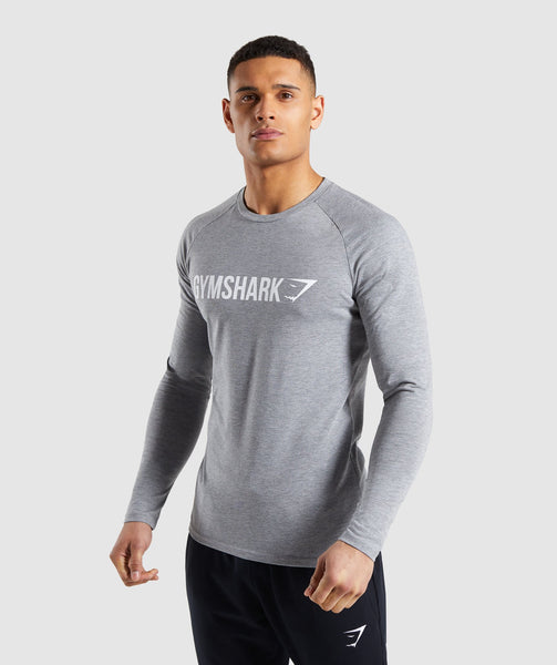 75fe4befd75 ... Gymshark Apollo Long Sleeve T-Shirt - Grey 4 ...