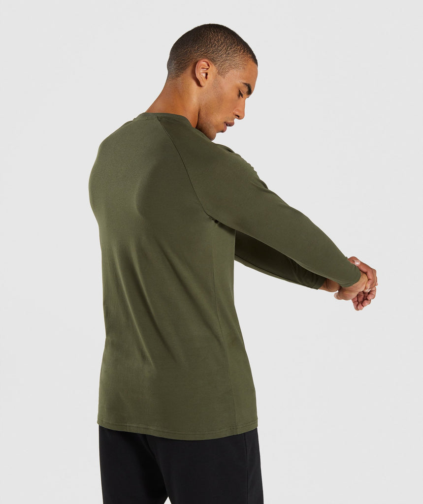 Gymshark Apollo Long Sleeve T-Shirt - Woodland Green 2