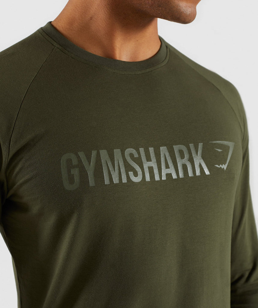 be5edcec93c Gymshark Apollo Long Sleeve T-Shirt - Woodland Green 5 ...