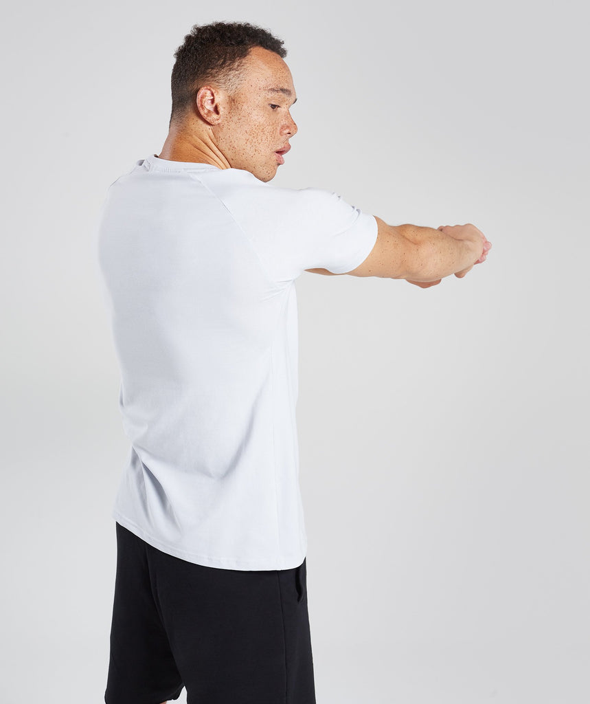 Gymshark Apollo T-Shirt - Clear Water/White 1