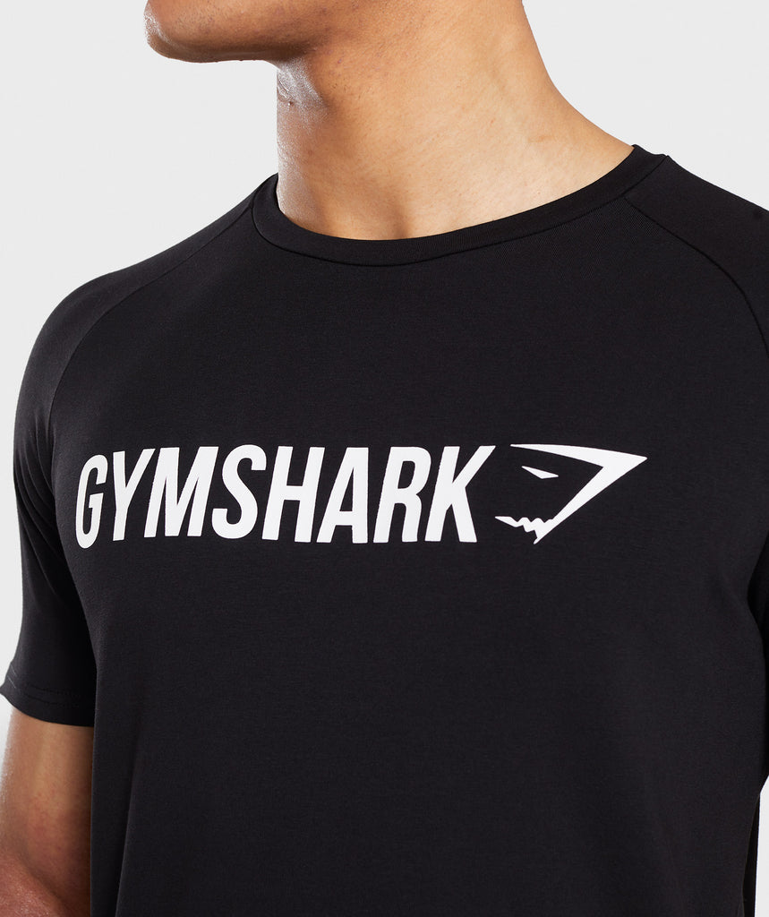 Gymshark Apollo T-Shirt - Black/White 5