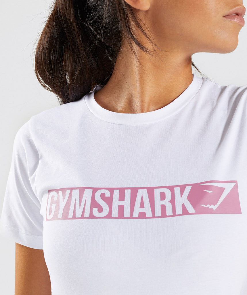 Gymshark Apollo T-Shirt 2.0 - White/Dusky Pink 6
