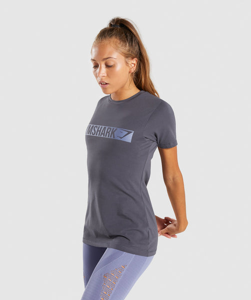 Gymshark Apollo T-Shirt 2.0 - Charcoal/Steel Blue 2