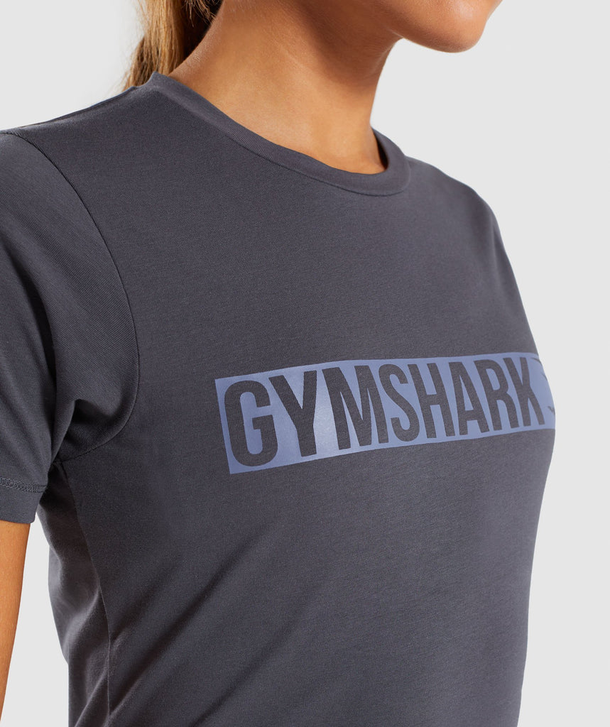 Gymshark Apollo T-Shirt 2.0 - Charcoal/Steel Blue 5