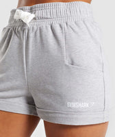 Gymshark Ark High Waisted Shorts - Light Grey Marl 11