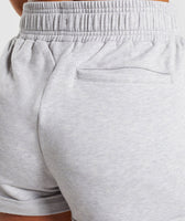 Gymshark Ark High Waisted Shorts - Light Grey Marl 12