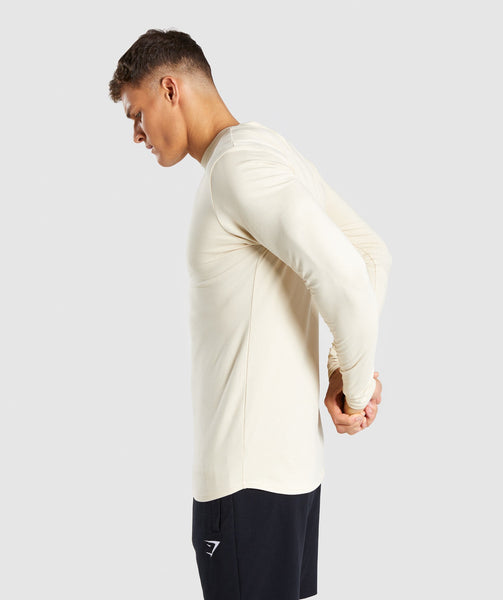 Gymshark Ark Long Sleeve T-Shirt - Warm Beige 4
