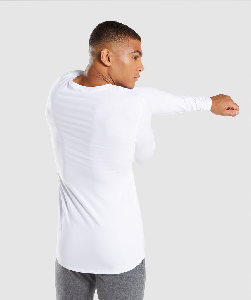 Gymshark Ark Long Sleeve T-Shirt - White 2