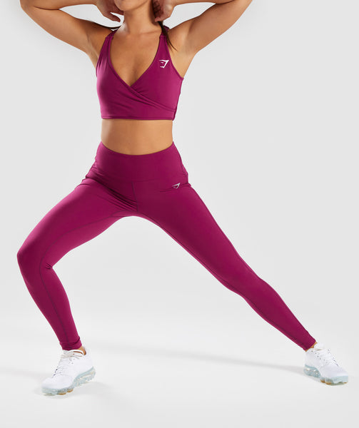 Gymshark Aspire Leggings - Deep Plum 4