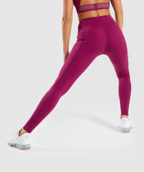 Gymshark Aspire Leggings - Deep Plum 1