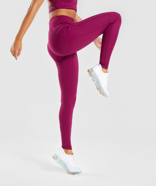 Gymshark Aspire Leggings - Deep Plum 2