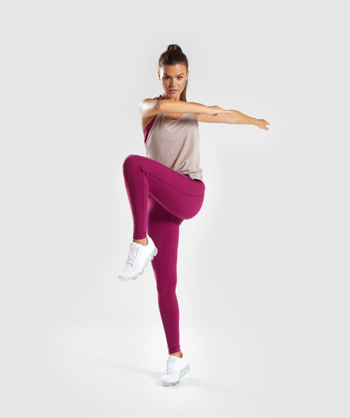 Gymshark Aspire Leggings - Deep Plum 3