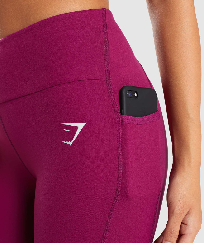 Gymshark Aspire Leggings - Deep Plum 6