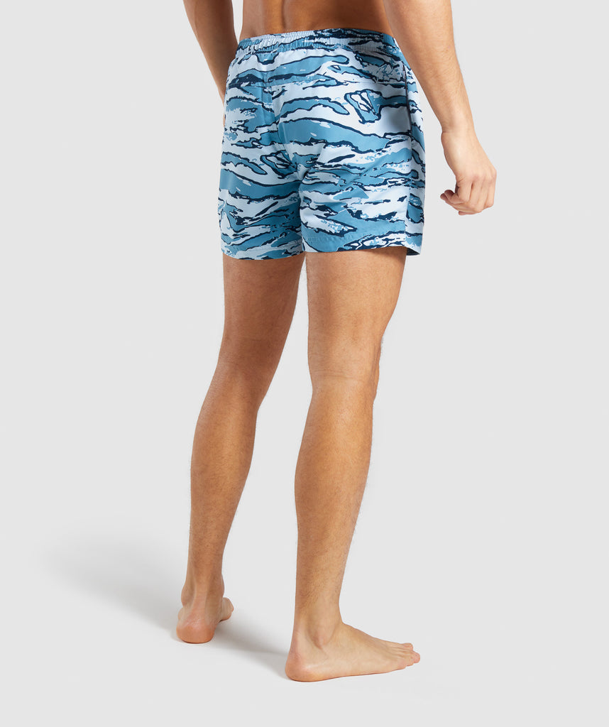 Gymshark Atlantic Swim Shorts - Blue Camo 2